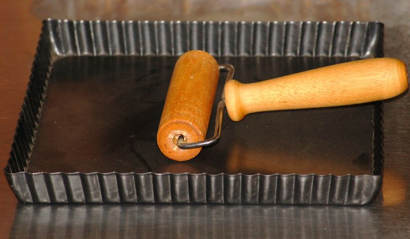 Pastry Roller and Tart Pan