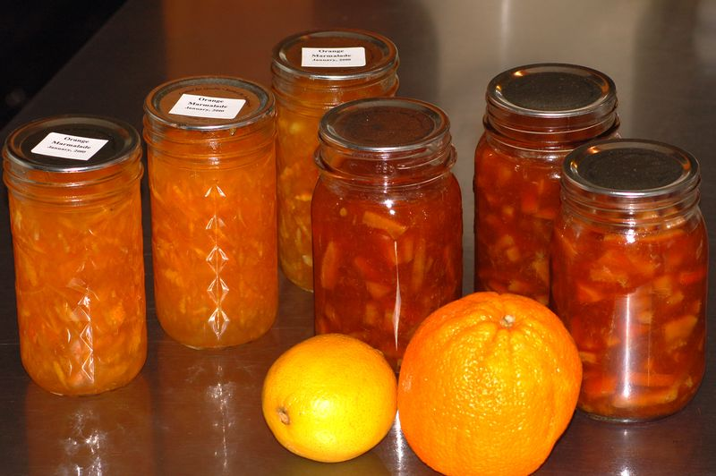 ... navel oranges and made orange marmalade using two different recipes