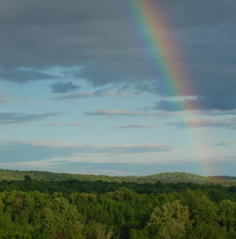 Rainbow over Uwharrie Mountain